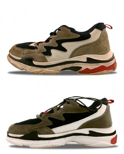 Химчистка кроссовок фото до и после
