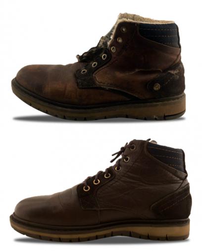 Химчистка зимней обуви фото до и после