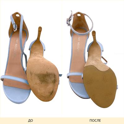 Фото фигурного наката на туфли Gucci